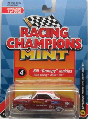 シボレー ◆高品質 海外限定 ノバ ミニカー アメ車 1 64 レーシングチャンピオン RACING CHAMPION Grumpy 1966 SS MINT Bill Nova Jenkins Chevy