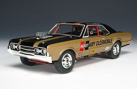 1/18 ハイウェイ61 HIGHWAY61 Hurst Hairy Olds 1967 Oldsmobile Special Edition オールズモビル ゴールド/ブラック ミニカー アメ車