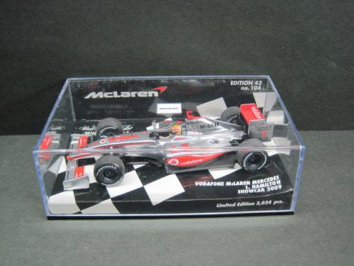 ボーダフォン マクラーレン メルセデス ショーカー プレゼント 2009 1 43 ミニカー F1 ハミルトン 中古 Showcar L. Mercedes Hamilton ミニチャンプス McLaren MINICHAMPS Vodafone