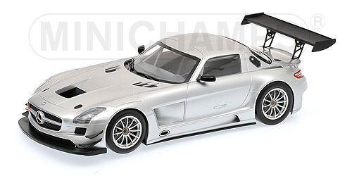 1/18 ミニチャンプス MINICHAMPS Mercedes Benz SLS AMG GT3 Street 2011 Silver メルセデス ベンツ ストリート ミニカー