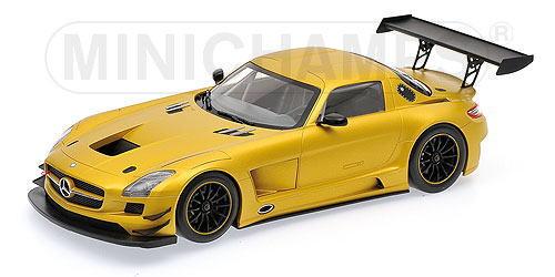 1/18 ミニチャンプス MINICHAMPS Mercedes Benz SLS AMG GT3 Street 2011 Gold メルセデス ベンツ ストリート ミニカー