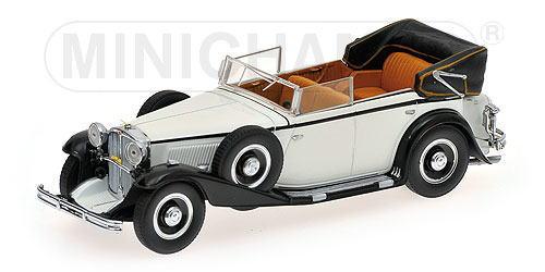 マイバッハ 1932 1 即日出荷 43 ミニカー ミニチャンプス Black Maybach 驚きの価格が実現 White MINICHAMPS Zeppelin