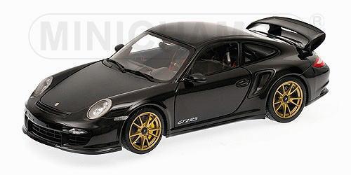 1/18 ミニチャンプス MINICHAMPS Porsche 911 GT2 RS 2011 Black with gold wheels ポルシェ ミニカー