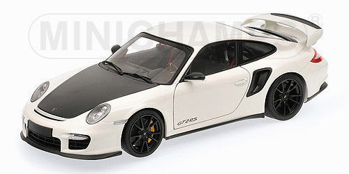 1/18 ミニチャンプス MINICHAMPS Porsche 911 GT2 RS 2011 White with black wheels ポルシェ ミニカー
