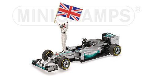 1/18 ミニチャンプス MINICHAMPS Mercedes AMG Petronas F1 Team Winner Abu Dhabi World Champion 2014 L.Hamilton メルセデス ペトロナス アブダビ ワールドチャンピオン ハミルトン スタンディングフィギュア&フラッグ ミニカー