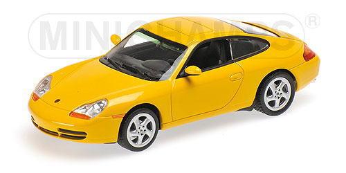 1/43 ミニチャンプス MINICHAMPS Porsche 911 Coupe 1998 Yellow ポルシェ クーペ ミニカー
