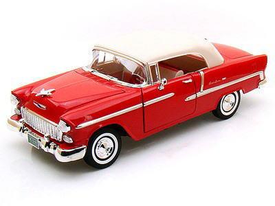 シェビー ベルエア 豪華な ミニカー アメ車 1 18 買い物 モーターマックス 1955 Chevy Max Air Bel Motor