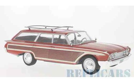 1/18 Model Car Group モデルカーグループ フォード カントリー スクワイア 1960 レッド/ウッド ルーフレール付 Ford Country Squire ミニカー アメ車