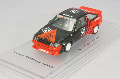 1/43 エニフ ENIF トヨタ カロ-ラ レビン N2 仕様 1986 カスタム ADVAN #25 Toyota Corolla Levin ミニカー