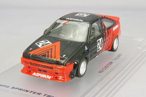 1/43 エニフ ENIF トヨタ スプリンター トレノ N2 仕様 1986 カスタム ADVAN #24 Toyota Sprinter Trueno ミニカー