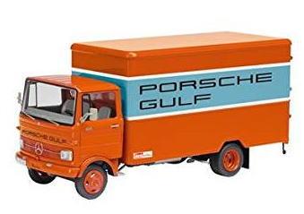 1/43 シュコー Schuco Mercedes-Benz LP 608 Kasten-LKW Porsche Gulf メルセデス ベンツ ポルシェ ガルフ トランスポーター ミニカー