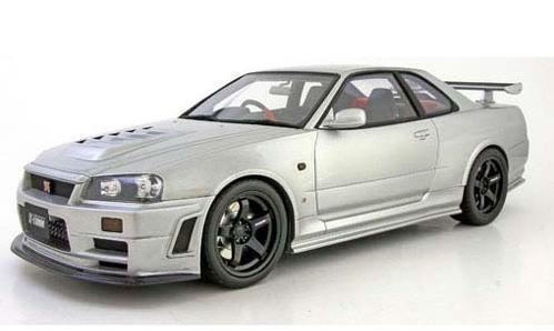 1/18 OTTO オットー ニスモ スカイライン GT-R (R34) ニスモ Zチューン シルバー Nismo Skyline GT-R ミニカー