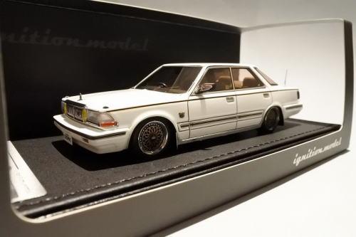 1/43 イグニッションモデル ignition model Nissan Cedric Y30 4Door Hardtop Brougham VIP 白い 日産 セドリック 4ドア ハードトップ ミニカー