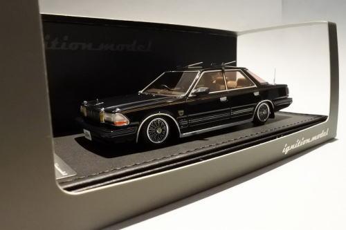 1/43 イグニッションモデル ignition model Nissan Cedric Y30 4Door Hardtop Brougham VIP Black 日産 セドリック 4ドア ハードトップ ミニカー