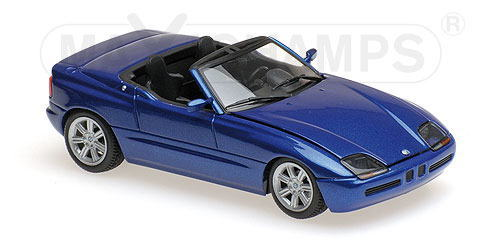 BMW Z1 1 格安店 43 ミニカー MAXICHAMPS 人気の製品 Blue 1991 E30 metallic マキシチャンプス