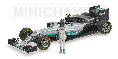 1/43 ミニチャンプス MINICHAMPS Mercedes AMG Petronas Motorsport F1 W07 Hybrid Abu Dhabi GP World Champion 2016 N.Rosberg メルセデス ペトロナス ハイブリッド アブダビGP ロズベルグ フィギュア付 1/43 ミニカー