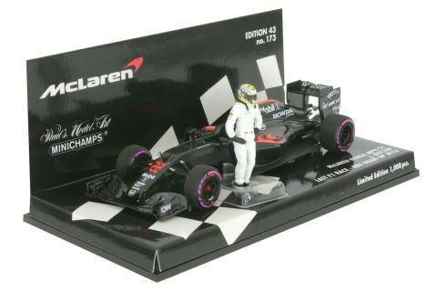 1/43 ミニチャンプス MINICHAMPS McLaren Honda MP4-31 J.Button Last F1 Race Abu Dhabi GP 2016 マクラーレン ホンダ J.バトン アブダビGP 1/43 ミニカー