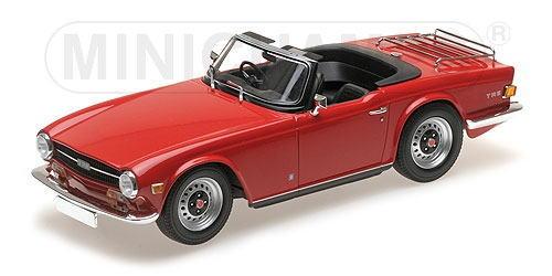 1/18 ミニチャンプス MINICHAMPS Triumph TR6 1969 Red RHD トライアンフ 右ハンドル ミニカー