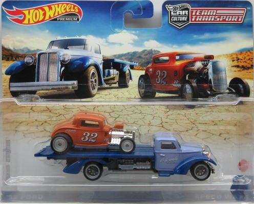 チーム トランスポート 1 64 ミニカー ホットウィール Hot '32 新商品 Wheels フォード 高級品 Speed Waze Ford アメ車