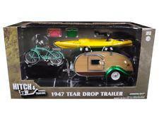 1/24 グリーンライト GREENLIGHT 1947 Tear Drop Trailer ティアドロップ トレーラー with 自転車 カヌー ミニカー アメ車 グリーンマシーン