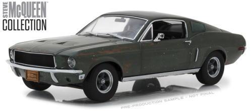 1/18 グリーンライト GREENLIGHT Steve McQueen Unrestored 1968 Ford Mustang GT Fastback スティーブ マックィーン フォード マスタング ファストバック ミニカー アメ車