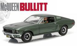 1/18 グリーンライト GREENLIGHT Bullitt 1968 Ford Mustang GT Steve McQueen Figure ブリット フォード マスタング スティーブ マックイン フィギュア付