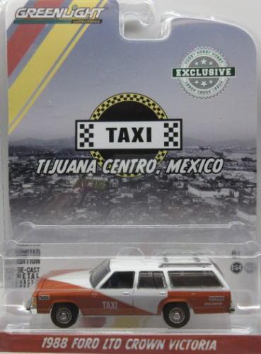 フォード クラウン ビクトリア 配送員設置送料無料 1 64 ミニカー アメ車 グリーンライト Ford オンラインショッピング GREENLIGHT 1988 LTD Victoria TAXI Crown