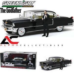 1/18 グリーンライト 緑LIGHT The Godfather 1955 Cadillac Fleetwood Series 60 with Don Corleone Figure ゴッドファーザー キャディラック フリートウッド フィギュア付 ミニカー アメ車