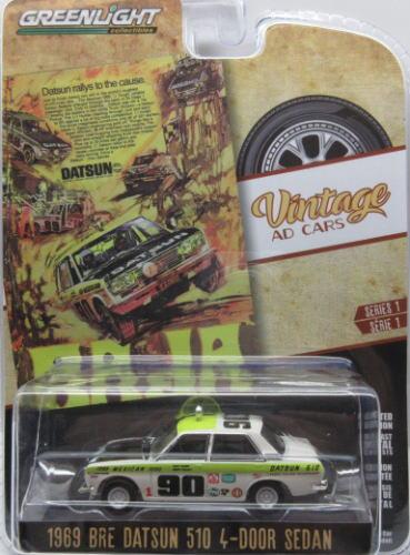 BRE ダットサン ミニカー 1 64 グリーンライト GREENLIGHT Sedan 4ドア 海外並行輸入正規品 510 テレビで話題 4-Door セダン 1969 Datsun