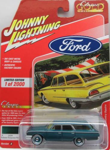 フォード カントリー 1 64 ミニカー アメ車 ジョニーライトニング JOHNNY 超歓迎された Squire Country Ford お得セット Gold LIGHTNING 2020 1960 Classic