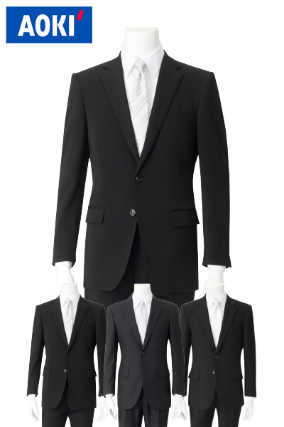 AOKI 礼服 福袋 メンズスーツ スーツ メンズ 福袋 スーツ ブラック フォーマル 冠婚葬祭 2ツボタンスーツ ビジネス アオキ【スーツ福袋】