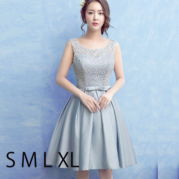 Gray Color Minidress Wedding Dress Prom Bridesmaid Parties One Piece Concert Party Invited