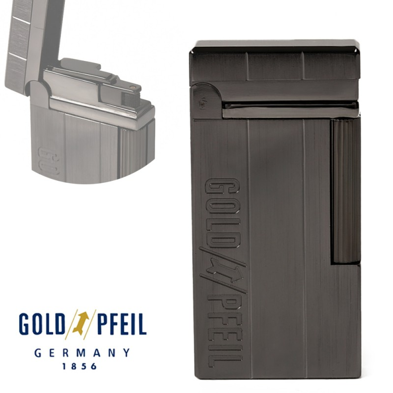 ガスライター GOLD PFEIL ゴールドファイル ブラックニッケル GP-1002BN