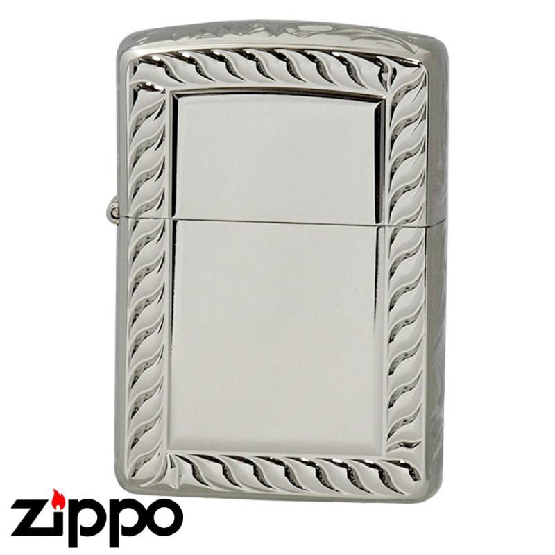 Zippo ジッポー Zippoライター ジッポライター 200 オイルライター 5面 彫刻 シルバー 5NC-ROPE A