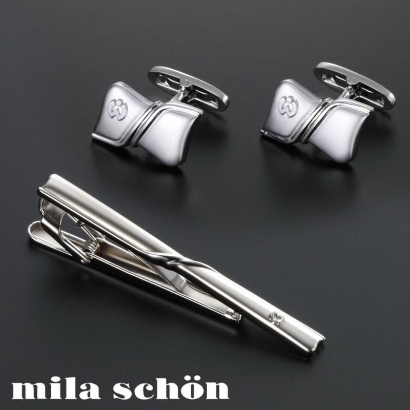 カフス ネクタイピン セット タイバー ミラショーン MSC10355 MST5355 メンズファッション ギフト プレゼント 贈り物 人気