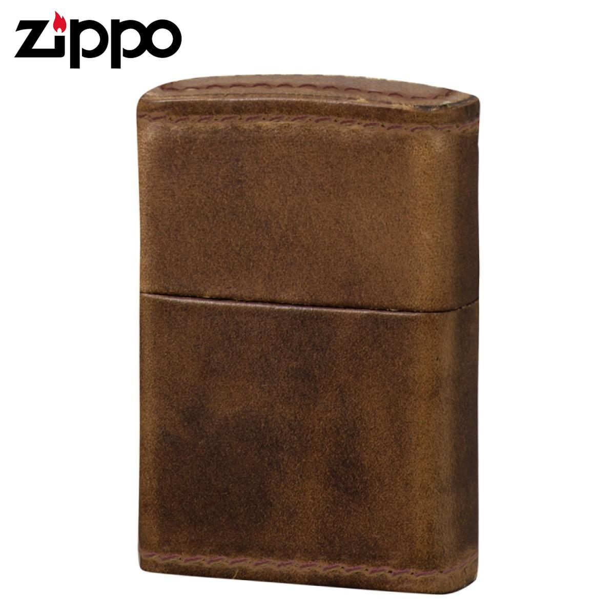 zippo ジッポーライター クロムエクセルレザー革巻 ナチュラル ギフト プレゼント 贈り物 返品不可 オイルライター ジッポライター メンズ レディース 男性用 女性用 喫煙具