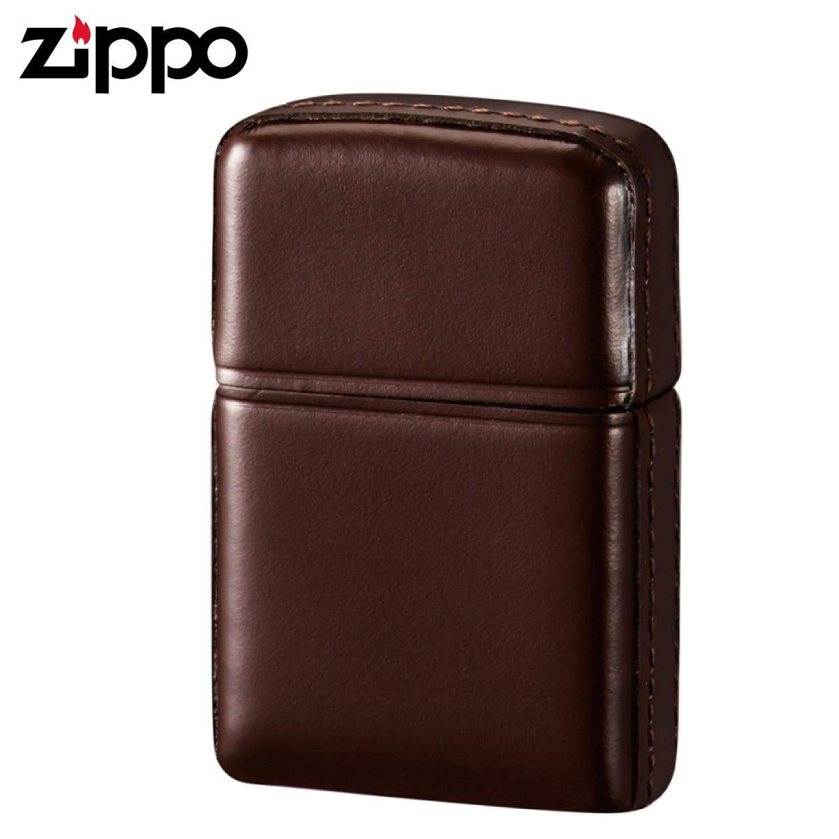 zippo ジッポーライター 松阪牛レザー ブラウン ギフト プレゼント 贈り物 返品不可 オイルライター ジッポライター メンズ レディース 男性用 女性用 喫煙具
