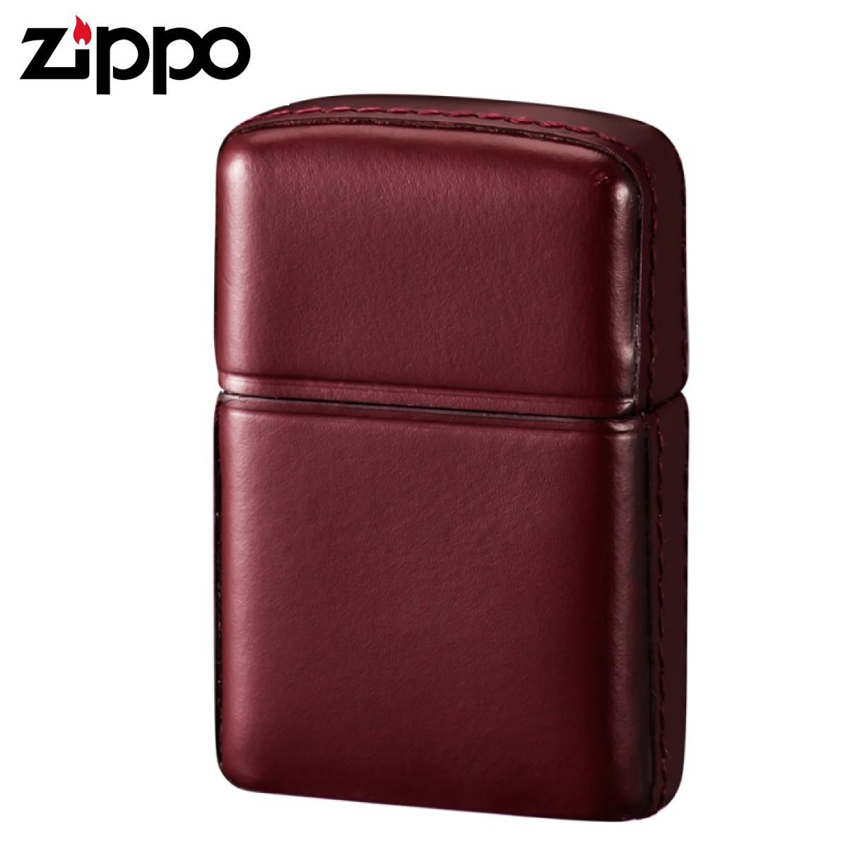 zippo ジッポーライター 松阪牛レザー ワインレッド ギフト プレゼント 贈り物 返品不可 オイルライター ジッポライター メンズ レディース 男性用 女性用 喫煙具