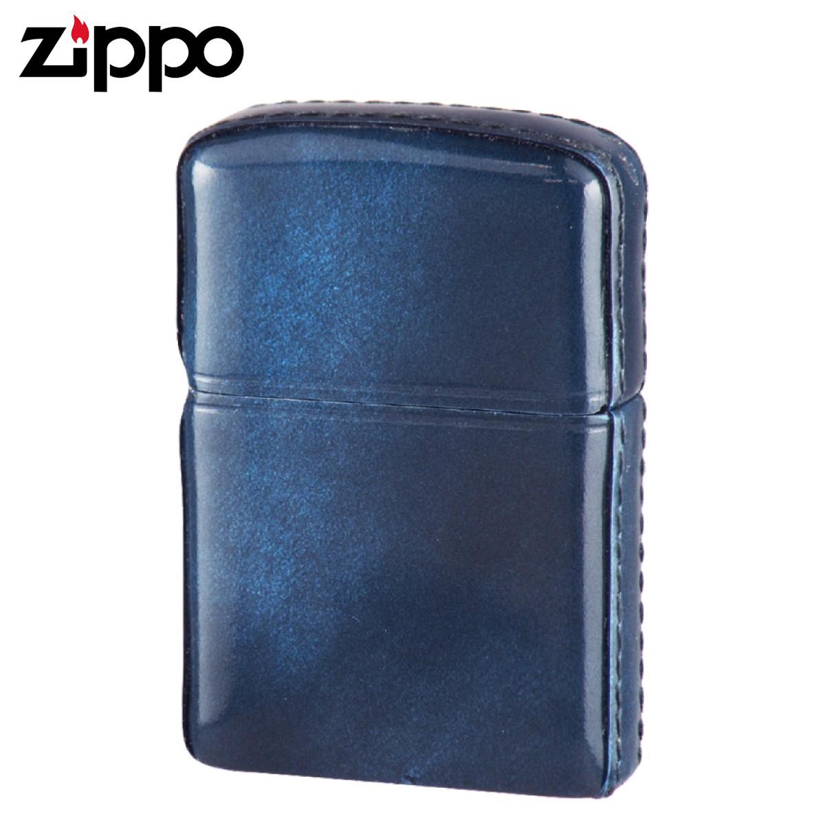 zippo ジッポー ライター 革巻き アドバンティックレザー ブルー