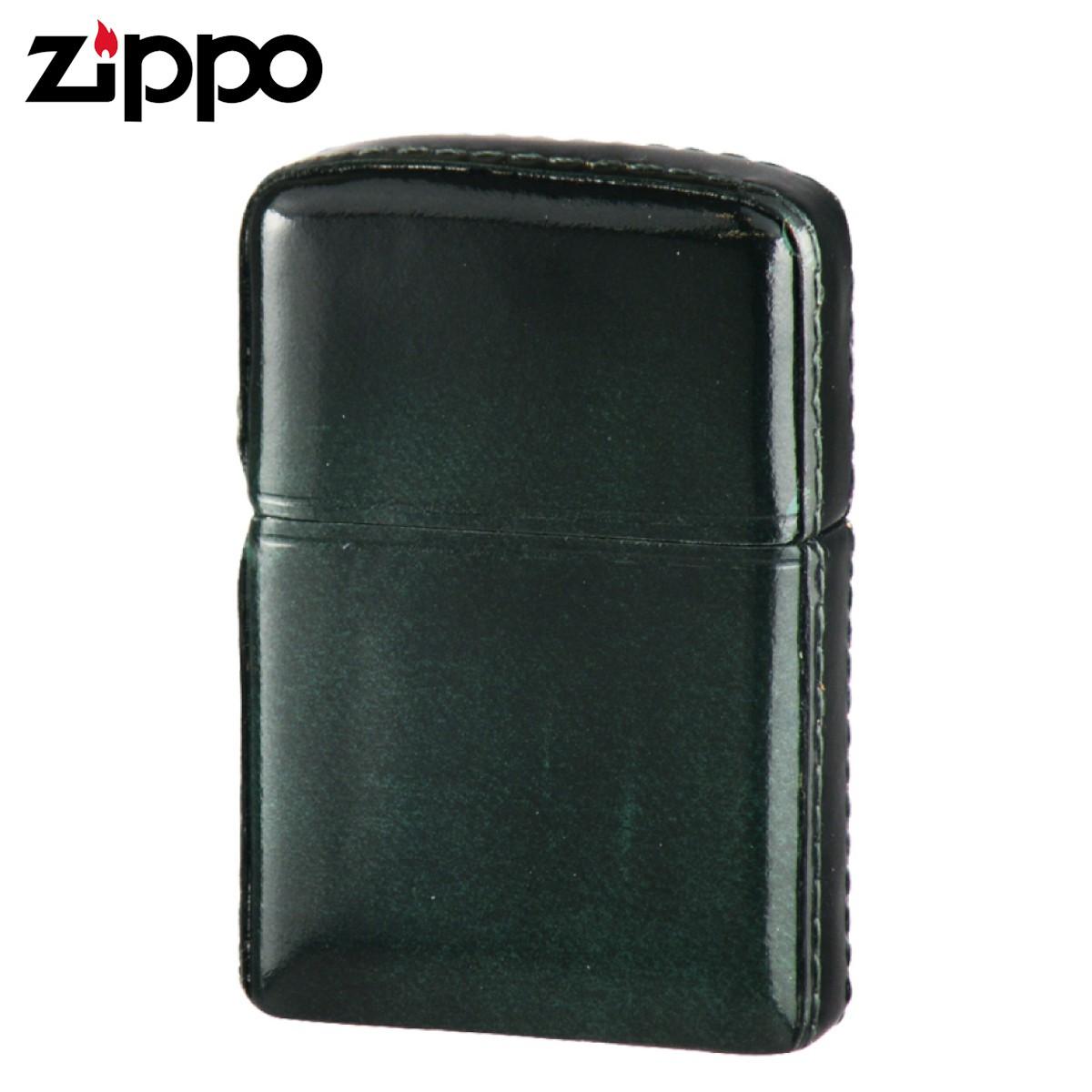 zippo ジッポー ライター 革巻き アドバンティックレザー グリーン ギフト プレゼント 贈り物 返品不可 喫煙具