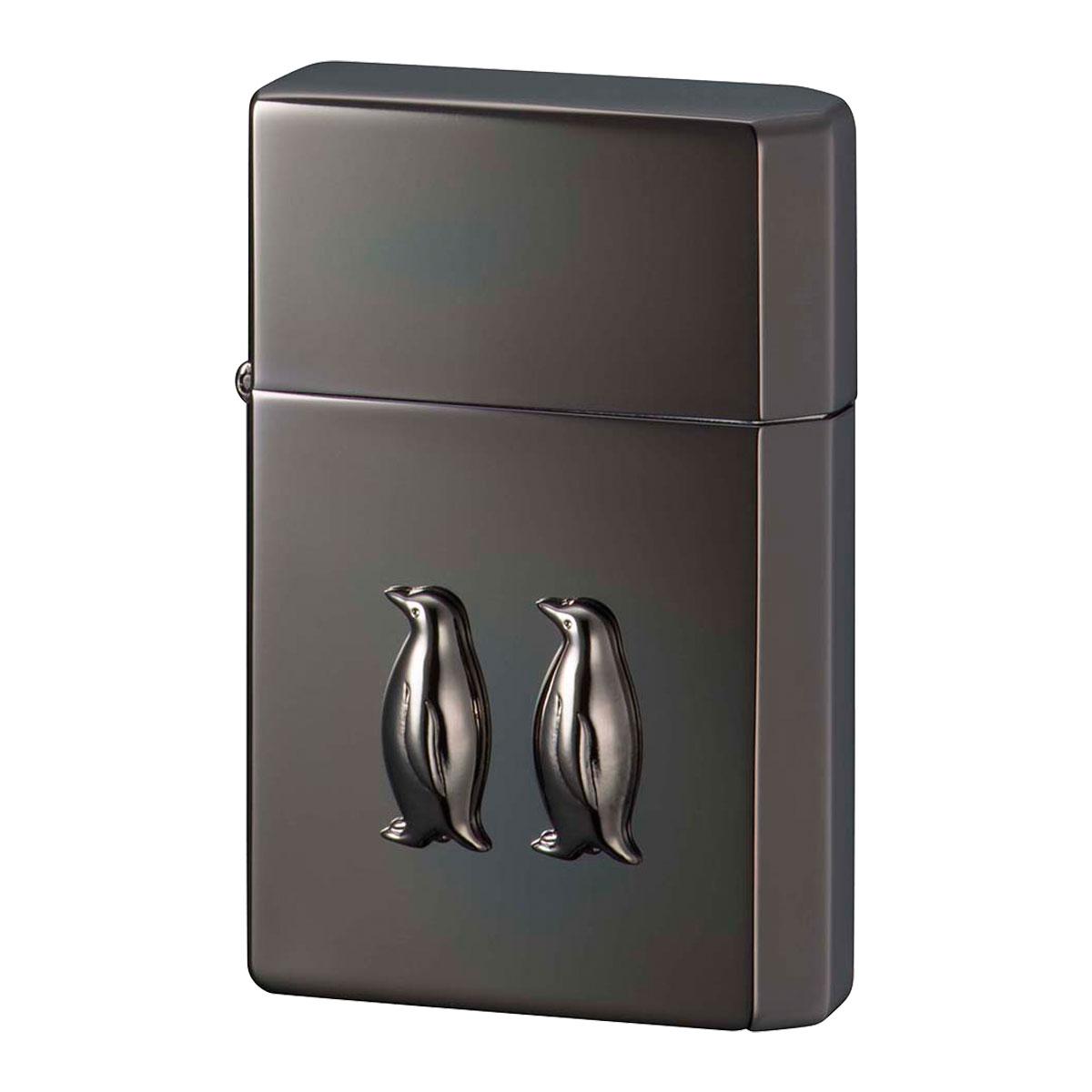 ライター オイルライター 名入れ ギアトップ ペンギンメタル イオンブラック 名入れ ギフト