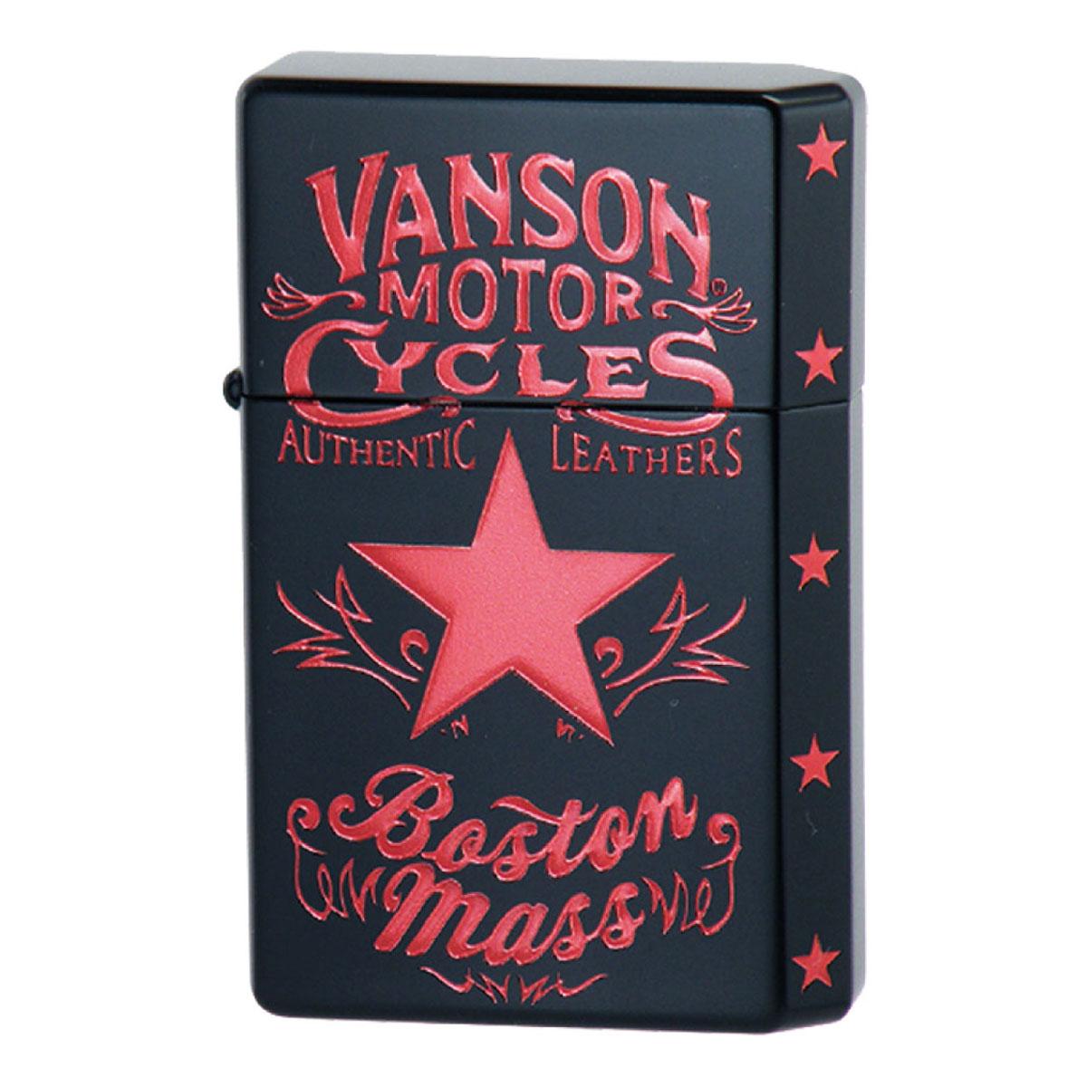 オイルライター 名入れ 日本製 GEAR TOP ギアトップ VANSON バンソン スターデザイン ブラック V-GT-08 名入れ ギフト プレゼント 贈り物 返品不可 誕生日 USBライター メンズ Men's おしゃれ
