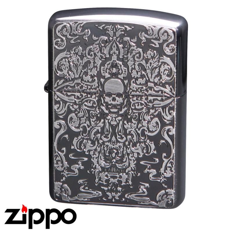 zippo ジッポーライター グロテスクスカルB 両面加工 黒ニッケル&エッチング GTS-B