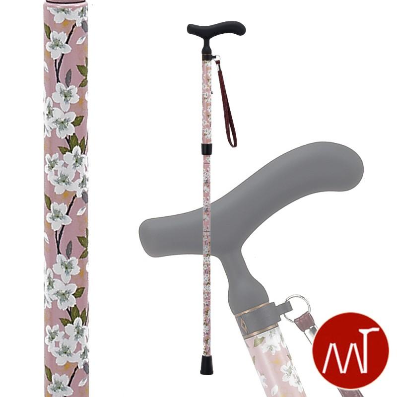 杖 折りたたみ 軽量 折りたたみ式杖 カーボン製 愛杖 C-72 ストラップ付き ステッキ 軽い 丈夫 カーボン杖