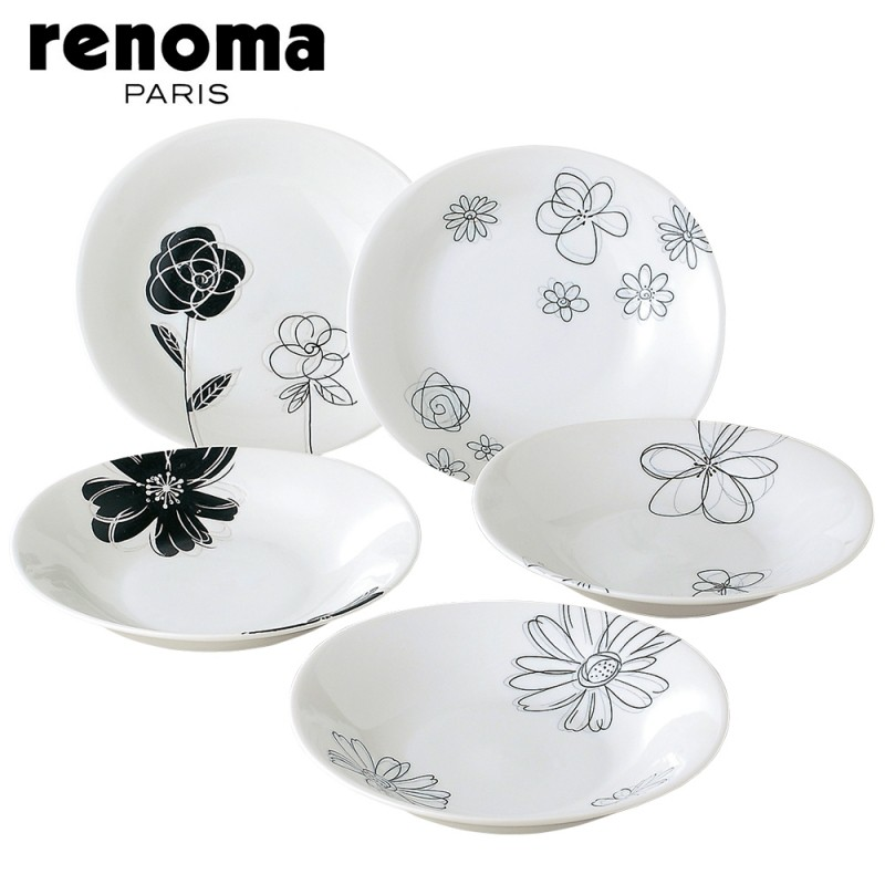 Western instrument plate plate renoma PARIS R-8027 pasta \u0026 curry dish set 28314 gift gifts Western with Western-style tableware dish plate Super SALE  sc 1 st  Rakuten : western style dinnerware - pezcame.com