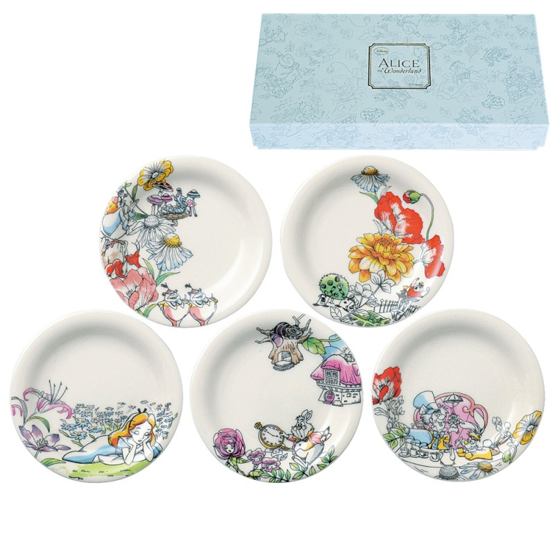LUXURY DISNEY D-AL01 Alice saucer 5 piece set ...  sc 1 st  Rakuten & r-e-zakkaya | Rakuten Global Market: Alice saucer Wonderland Disney ...