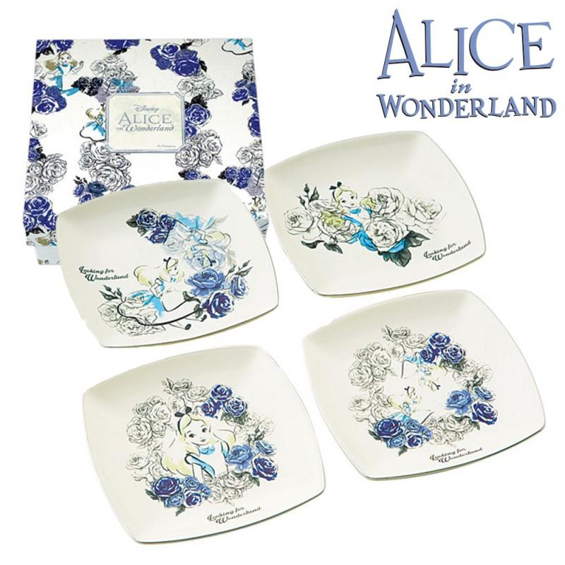 50125 Wonderland Alice plate 4 P ...  sc 1 st  Rakuten & r-e-zakkaya | Rakuten Global Market: Dishes Dinnerware Set ...