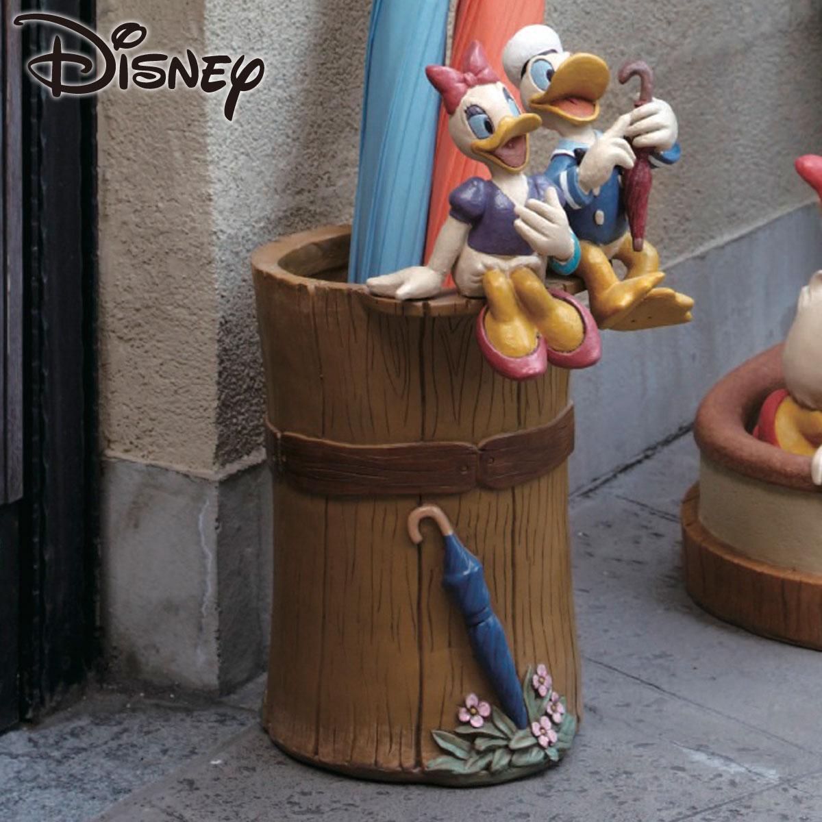★ポイント10倍★ 傘立て ディズニー ドナルド&デイジー SD-5403 陶器 アンブレラスタンド 傘たて かさたて おしゃれ かわいい