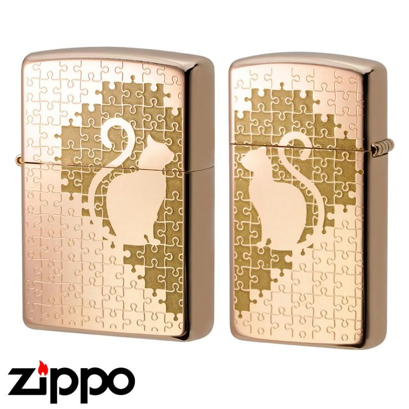 zippo ペアジッポー ジッポライター オイルライター キャットパズルペア RPK ローズピンク 1201S577 ギフト プレゼント ZIPPO ジッポー 通販 販売 雑貨屋