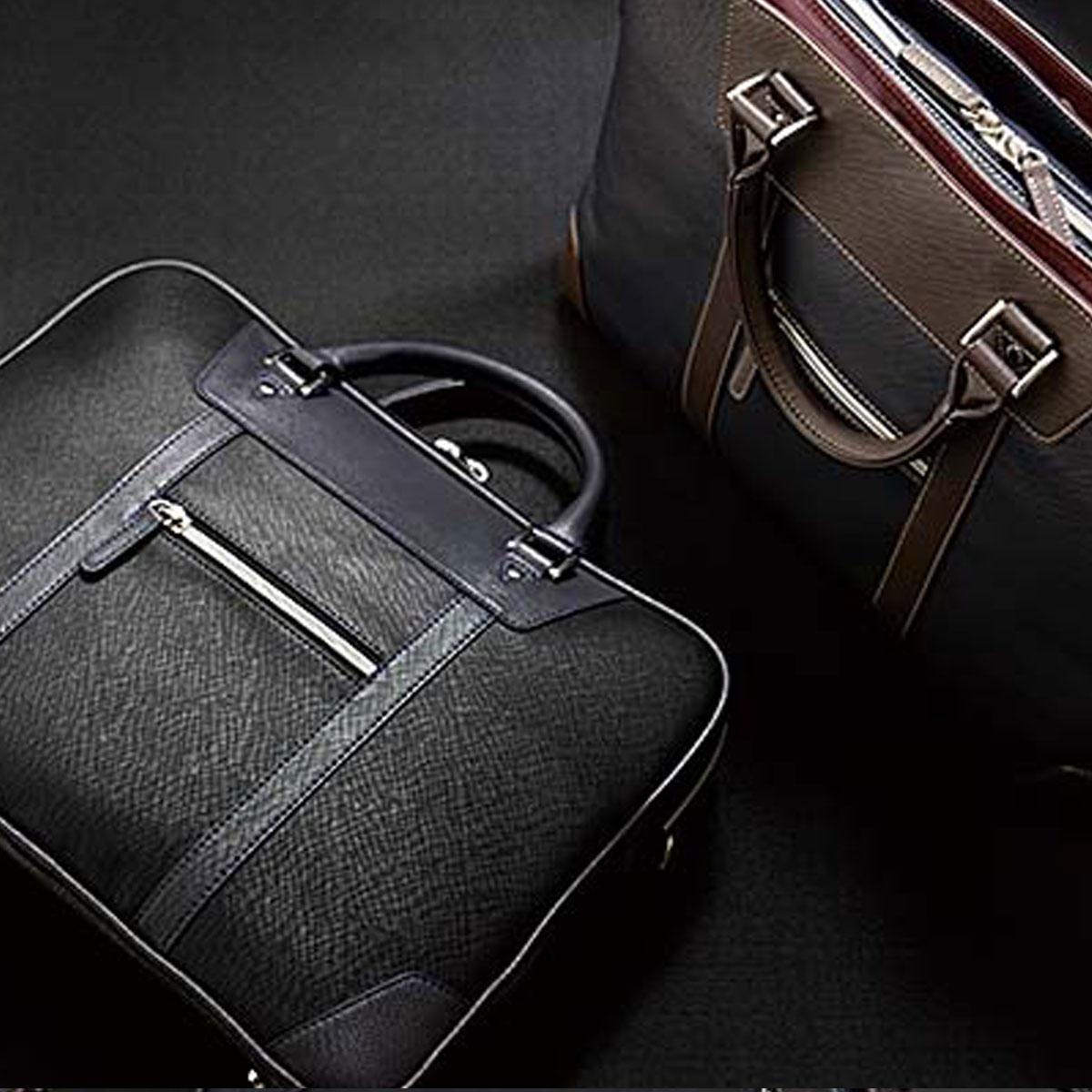 ビジネスバッグ メンズ ショルダー付 ブリーフケース3層 リナジーノ KPタイプ 22-5308